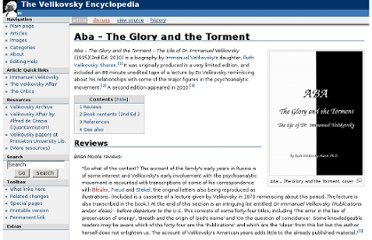http://www.velikovsky.info/Aba_%E2%80%93_The_Glory_and_the_Torment
