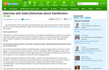 http://www.gamezebo.com/news/2011/01/06/interview-gabe-zicherman-about-gamification