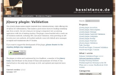 http://bassistance.de/jquery-plugins/jquery-plugin-validation/