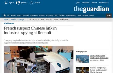 http://www.guardian.co.uk/world/2011/jan/07/renault-france-china-spying-link