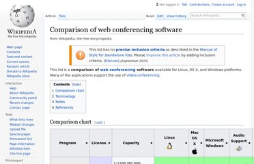 http://en.wikipedia.org/wiki/Comparison_of_web_conferencing_software
