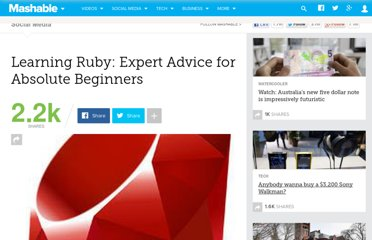 http://mashable.com/2011/01/14/ruby-on-rails-for-beginners/