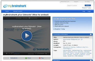 http://my.brainshark.com/myBrainshark-plus-Edmodo-How-to-embed-410675655