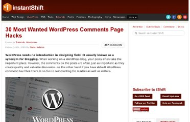 http://www.instantshift.com/2009/02/08/30-most-wanted-wordpress-comments-page-hacks/