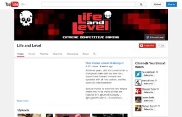 http://www.youtube.com/user/lifeandlevel