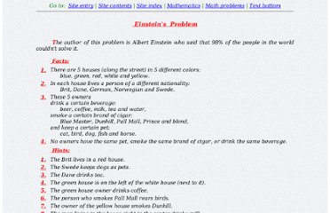 http://www.davar.net/MATH/PROBLEMS/EINSTEIN.HTM