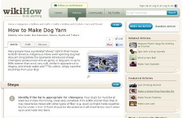 http://www.wikihow.com/Make-Dog-Yarn