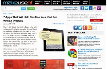 http://www.makeuseof.com/tag/7-apps-ipad-writing-projects/