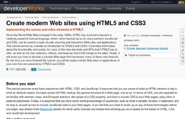 http://www.ibm.com/developerworks/web/tutorials/wa-html5/