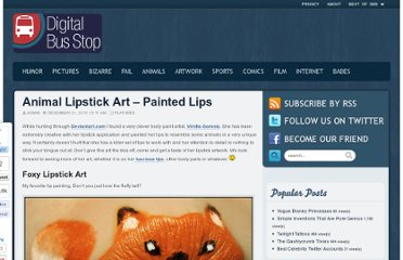 http://www.digitalbusstop.com/animal-lipstick-art-painted-lips/