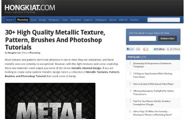http://www.hongkiat.com/blog/30-high-quality-metallic-texture-pattern-brushes-and-photoshop-tutorials/