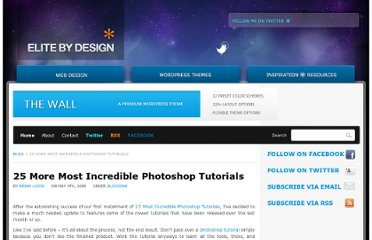 http://elitebydesign.com/25-more-most-incredible-photoshop-tutorials/