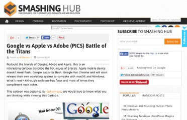 http://smashinghub.com/google-vs-apple-vs-adobe-pics-battle-of-the-titans.htm