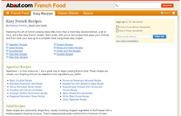 http://frenchfood.about.com/od/explorefrenchfood/u/EasyRecipes.htm