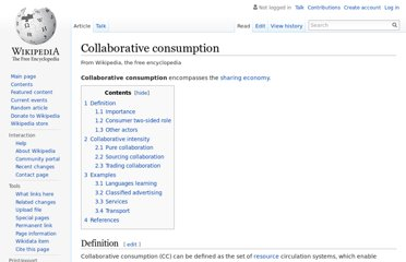 http://en.wikipedia.org/wiki/Collaborative_consumption