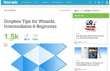 http://mashable.com/2011/01/15/dropbox-tips/