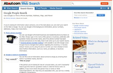 http://websearch.about.com/od/peoplesearch/tp/googlepeoplesearch.htm