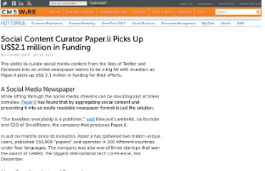 http://www.cmswire.com/cms/enterprise-20/social-content-curator-paperli-picks-up-us21-million-in-funding-009804.php