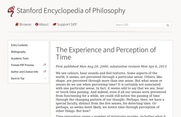 http://plato.stanford.edu/entries/time-experience/