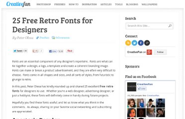 http://creativefan.com/25-free-retro-fonts-for-designers/
