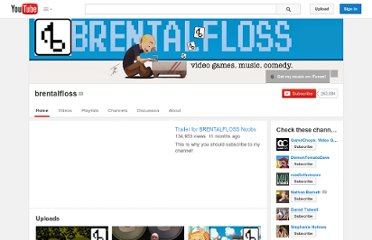 http://www.youtube.com/user/brentalfloss