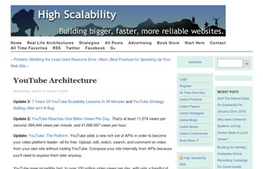 http://highscalability.com/youtube-architecture