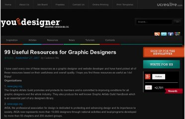 http://www.youthedesigner.com/2007/09/27/99-resources-a-graphic-designer-must-have/