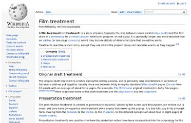 http://en.wikipedia.org/wiki/Film_treatment