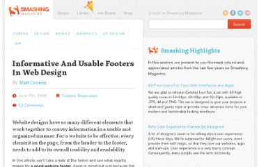 http://www.smashingmagazine.com/2009/06/17/informative-and-usable-footers-in-web-design/