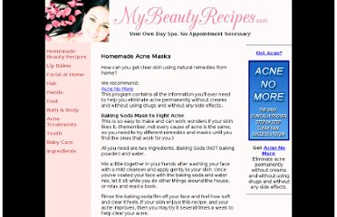 http://www.mybeautyrecipes.com/homemade_acne_masks.html