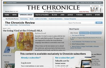 http://chronicle.com/article/On-Going-Viral-at-the/64455/