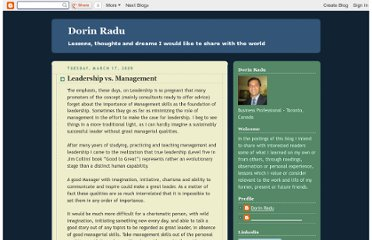 http://dorin-radu.blogspot.com/2009/07/leadership-vs-management.html