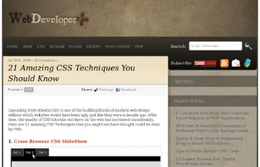 http://webdeveloperplus.com/css/21-amazing-css-techniques-you-should-know/