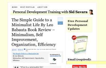 http://sidsavara.com/product-reviews/the-simple-guide-to-a-minimalist-life-by-leo-babauta-book-review-minimalism-self-improvement-organization-efficiency