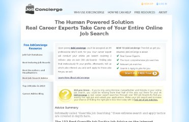 http://www.jobconcierge.com/best-job-search-advice/Guerrilla-Job-Tactics/