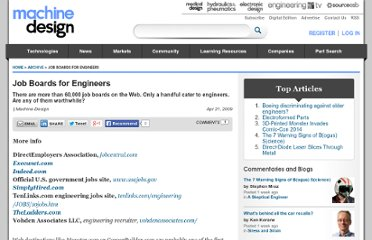 http://machinedesign.com/article/job-boards-for-engineers-0421