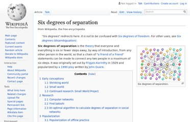 http://en.wikipedia.org/wiki/Six_degrees_of_separation