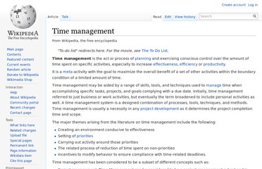 http://en.wikipedia.org/wiki/Time_management