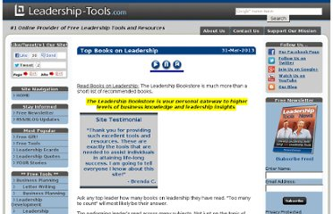 http://www.leadership-tools.com/books-on-leadership.html