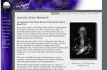http://tomkenyon.com/acoustic-brain-research