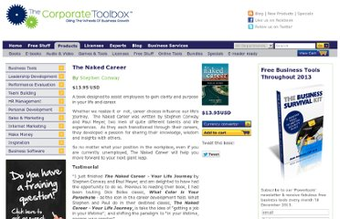 http://www.thecorporatetoolbox.com/products/the_naked_career