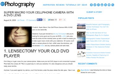 http://www.diyphotography.net/super-macro-your-cellphone-camera-with-a-dvd-lens