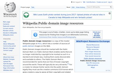 http://en.wikipedia.org/wiki/Wikipedia:Public_domain_image_resources