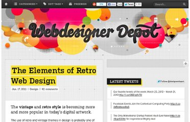http://www.webdesignerdepot.com/2011/01/the-elements-of-retro-web-design/