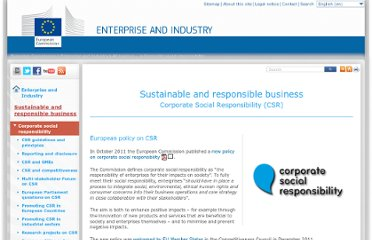 http://ec.europa.eu/enterprise/policies/sustainable-business/corporate-social-responsibility/index_en.htm