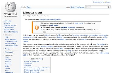 http://en.wikipedia.org/wiki/Director%27s_cut