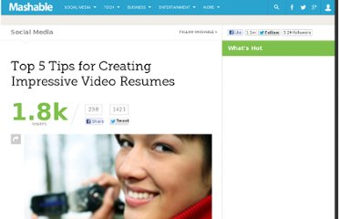http://mashable.com/2011/01/17/tips-video-resumes/