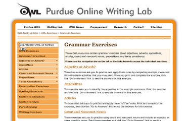 http://owl.english.purdue.edu/exercises/2/