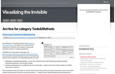 http://www.visualizing-the-invisible.org/category/toolsmethods/