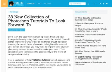 http://naldzgraphics.net/tutorials/33-new-collection-of-photoshop-tutorials-to-look-forward-to/